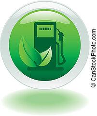 eco gas pump button in vector format