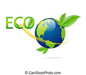 eco, glas, grön, isolerat, mull