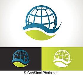 eco, globe, groene, pictogram