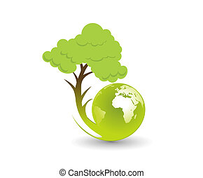 eco, globe, illustration