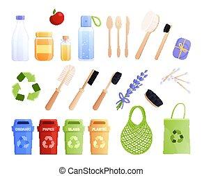 Eco Goods Flat Icon Set