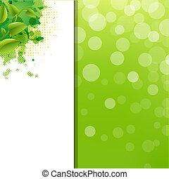 eco, grön, klick, bakgrund, fläck