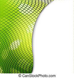 eco, grön, mosaik, bakgrund