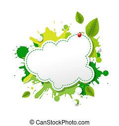 eco, grön, tal porla