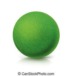 ECO Green ball on white background