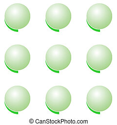 Eco green battons set