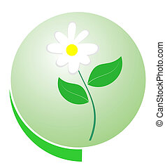 Eco green button