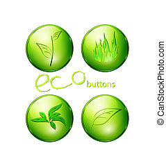 eco green buttons