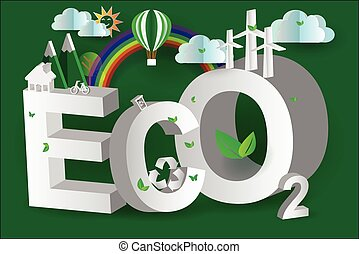 eco green city design,3d,isometric,vector