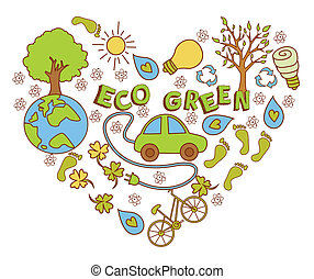 Eco Green Doodle Banner