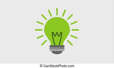 eco green energy animation - green bulb light bright ecology...