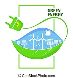 Eco green energy concept. World Environment Day.