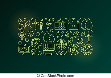 Eco green energy vector illustration