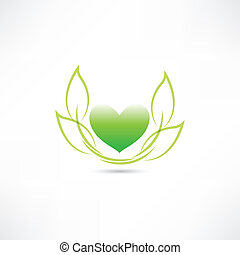 eco green heart