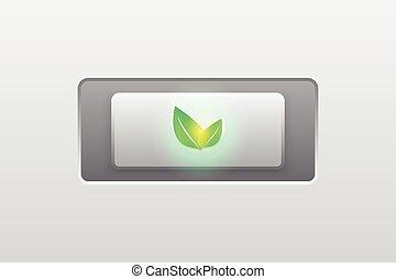 eco green icon, button, modern, vector
