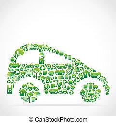 eco green icon car