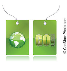 eco green illustration tags design