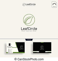 Eco green leaf logo template. Abstract Vector Green leaves