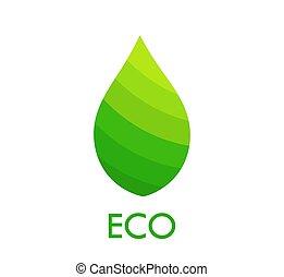 Eco green leaf symbol.