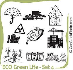 ECO - Green Life - vector set.