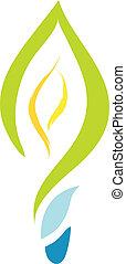 eco green light bulb - vector eco green light bulb...