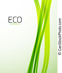 Eco green lines modern design template