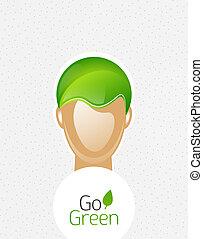 Eco green man concept
