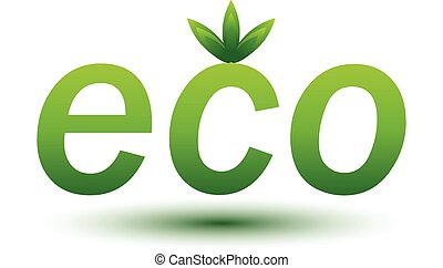 Eco Green sign isolated on white background. Vector