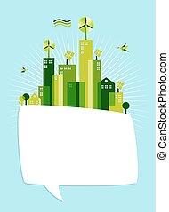 Eco green social media speech bubble