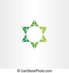 eco green star vector icon sign
