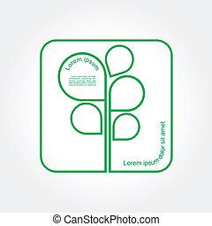 Eco Green Tree logo template. Vector