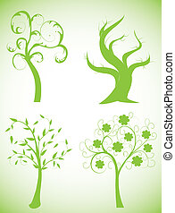 eco green trees, symbols of nature protection