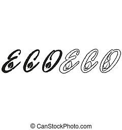 eco - green vector icon