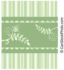 Eco greeting card & seamless border