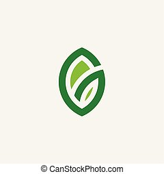 eco, groen blad, logo, symbool, vector, bio, organisch, pictogram