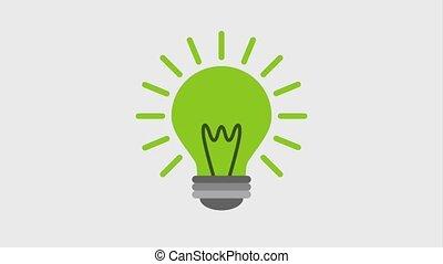 eco, groene, energie, animatie