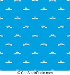 Eco gyro scooter pattern seamless blue