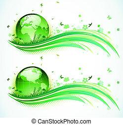 eco, hintergrund, grün