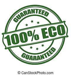 eco, honderd, procent, een