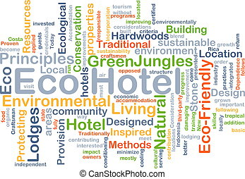 Eco hotel background concept