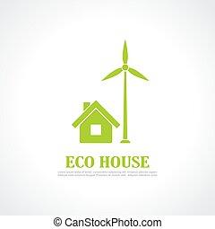 Eco house emblem