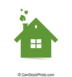 eco house green illustration