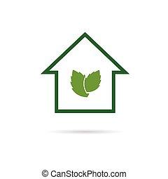 eco house green vector