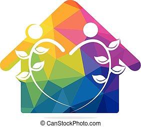 Eco House Logo design.