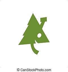 Eco house logo isolated on a white background.