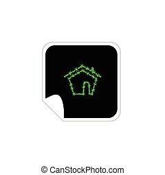 eco house sticker vector illustration