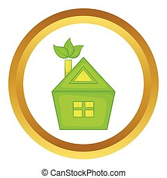 Eco house vector icon