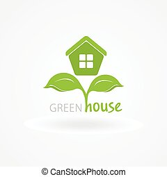 House Logo Ecological Icon