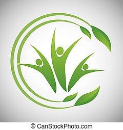 Eco icon design - Eco concept with natural icon design, ...