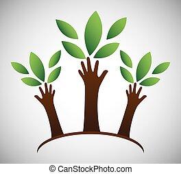 Eco icon design